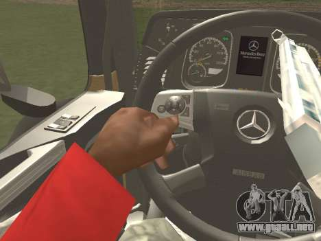 Mercedes-Benz Actros Mp4 6x2 v2.0 Gigaspace para vista inferior GTA San Andreas