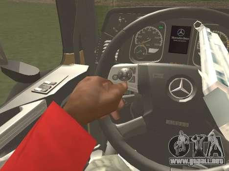 Mercedes-Benz Actros Mp4 6x2 v2.0 Gigaspace para vista inferior GTA San Andreas