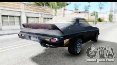 Holden Monaro 1972 Nightrider para GTA San Andreas vista posterior izquierda
