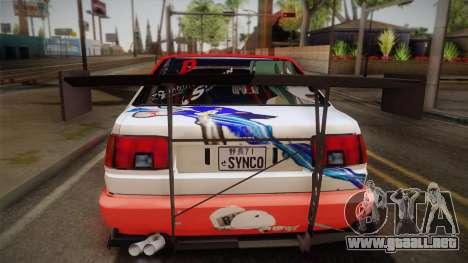 Toyota AE86 2 Door Levin para la visión correcta GTA San Andreas