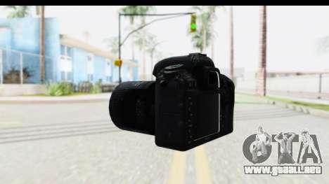 Nikon D600 para GTA San Andreas segunda pantalla