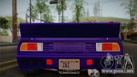 Lancia Rally 037 Stradale (SE037) 1982 IVF Dirt1 para la vista superior GTA San Andreas