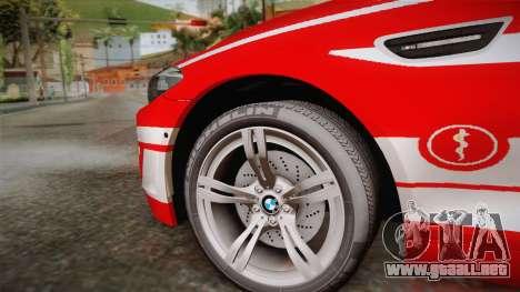 BMW M5 Touring NEF para GTA San Andreas vista posterior izquierda