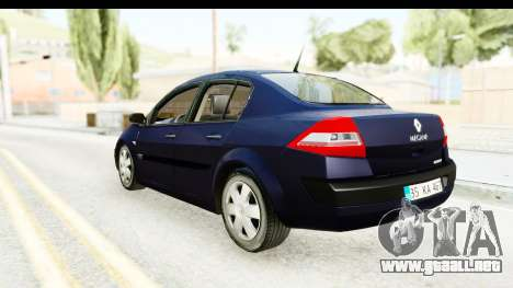 Renault Megane 2 Sedan 2003 v2 para GTA San Andreas left