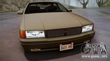 Declasse Premier 1992 SA Style para GTA San Andreas vista posterior izquierda
