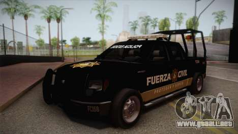 Ford F-150 de la Fuerza Civil de Nuevo Leon para GTA San Andreas