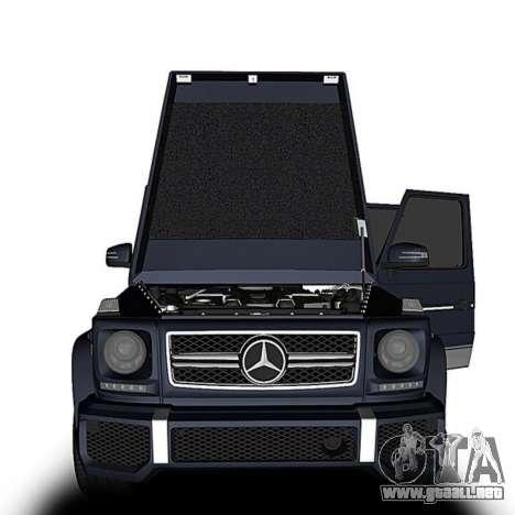 Mercedes-Benz G63 para GTA San Andreas vista posterior izquierda