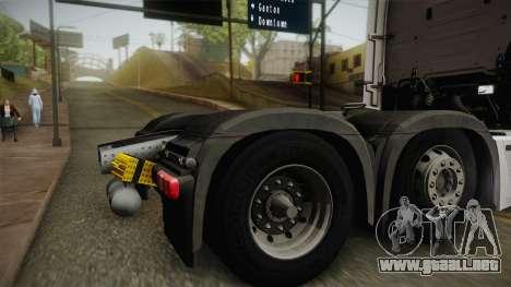 Mercedes-Benz Actros Mp4 6x2 v2.0 Bigspace v2 para la visión correcta GTA San Andreas
