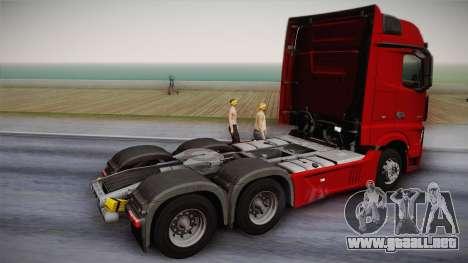 Mercedes-Benz Actros Mp4 6x4 v2.0 Bigspace v2 para GTA San Andreas left