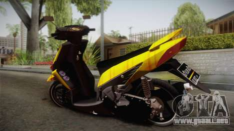 Honda Vario Yellow Shines para GTA San Andreas left