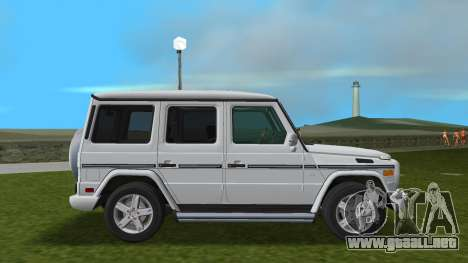 Mercedes-Benz G500 W463 2008 para GTA Vice City vista posterior