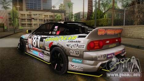 D1GP Nissan 180SX BWest Origin Labo para GTA San Andreas left