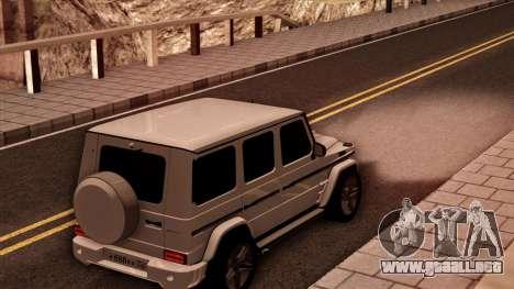 Mercedes-Benz G65 para GTA San Andreas vista posterior izquierda