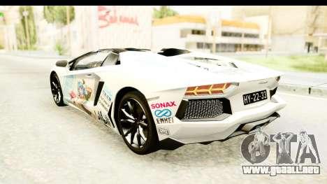 Lamborghini Aventador LP700-4 Roadster v2 para las ruedas de GTA San Andreas