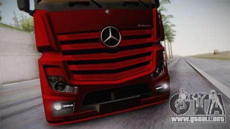 Mercedes-Benz Actros Mp4 6x4 v2.0 Bigspace v2 para visión interna GTA San Andreas