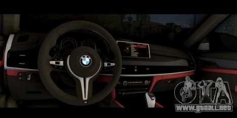 BMW X6M F86 M Performance para la visión correcta GTA San Andreas