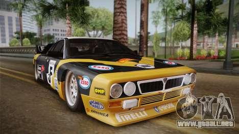 Lancia Rally 037 Stradale (SE037) 1982 IVF Dirt2 para GTA San Andreas vista posterior izquierda