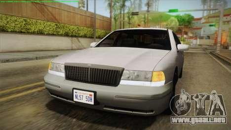 Willard Elegant IVF para GTA San Andreas vista hacia atrás