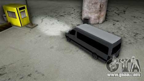 Mercedes-Benz Sprinter para la vista superior GTA San Andreas