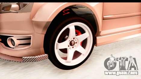 Audi S3 Slaam para GTA San Andreas vista hacia atrás