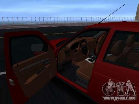 VAZ 2170 STANCE para la vista superior GTA San Andreas