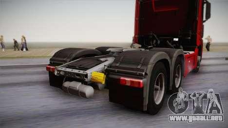 Mercedes-Benz Actros Mp4 6x4 v2.0 Bigspace v2 para la visión correcta GTA San Andreas