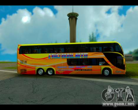 Metalsur Starbus II CRUCERO DEL NORTE para GTA San Andreas vista posterior izquierda