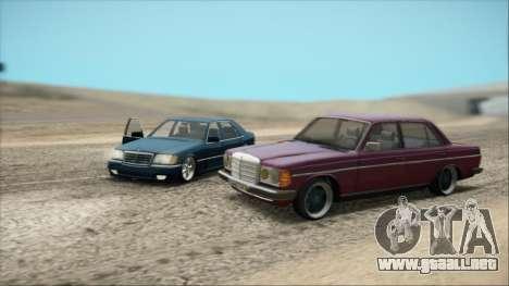 Mercedes-Benz 240D para GTA San Andreas vista hacia atrás
