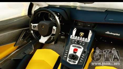 Lamborghini Aventador LP700-4 Roadster v2 para visión interna GTA San Andreas