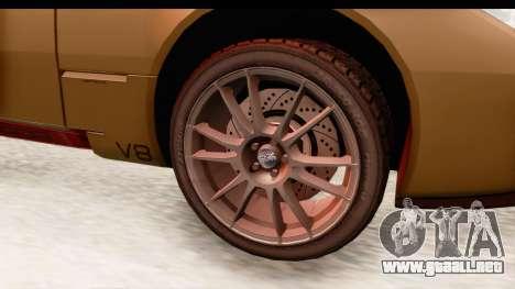 Spada Codatronca TS para GTA San Andreas vista hacia atrás
