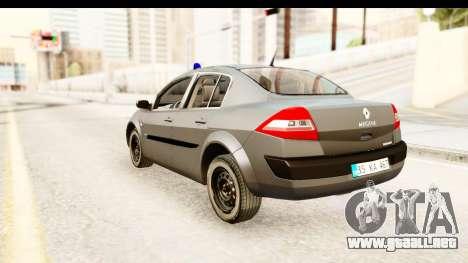 Renault Megane 2 Sedan Unmarked Police Car para GTA San Andreas left