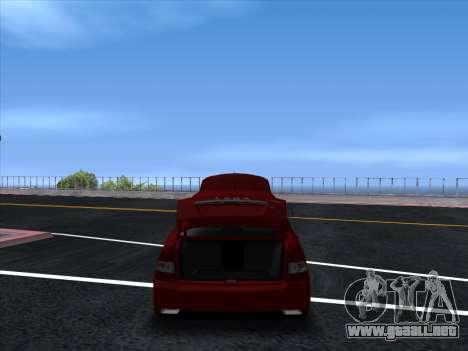 VAZ 2170 STANCE para GTA San Andreas vista hacia atrás