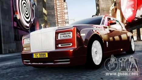 Rolls-Royce Phantom EWB 2013 para GTA 4 Vista posterior izquierda