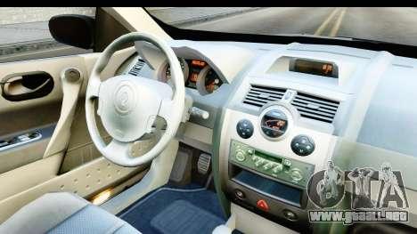 Renault Megane 2 Sedan 2003 v2 para visión interna GTA San Andreas
