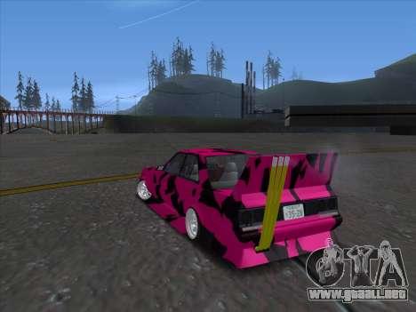 Toyota Supergt para GTA San Andreas vista posterior izquierda