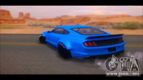 Ford Mustang 2015 Liberty Walk LP Performance para GTA San Andreas vista posterior izquierda