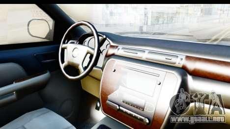 Chevrolet Silverado 2011 para visión interna GTA San Andreas