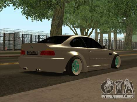 BMW E46 para GTA San Andreas vista posterior izquierda