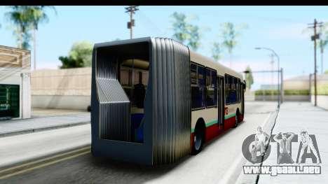 Metrobus de la Ciudad de Mexico para GTA San Andreas left