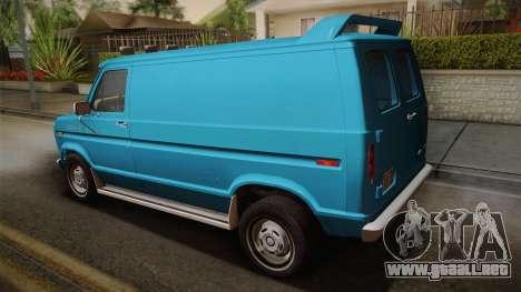 Ford E-150 Commercial Van 1982 2.0 para GTA San Andreas left