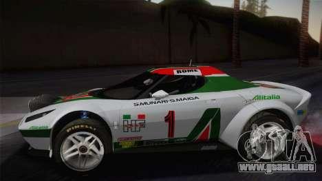 Lancia Stratos para GTA San Andreas vista posterior izquierda