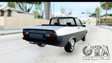 Dacia 1300 Sport Cabrio para GTA San Andreas left