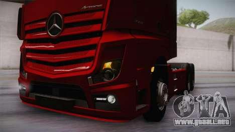 Mercedes-Benz Actros Mp4 6x4 v2.0 Bigspace v2 para vista lateral GTA San Andreas
