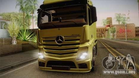 Mercedes-Benz Actros Mp4 v2.0 Tandem Big para GTA San Andreas vista posterior izquierda