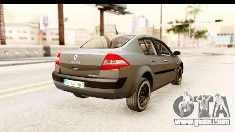 Renault Megane 2 Sedan Unmarked Police Car para la visión correcta GTA San Andreas