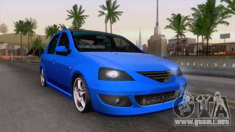 Dacia Logan Cocalar Edition para GTA San Andreas vista hacia atrás