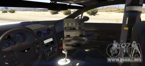GTA 5 Undercover Bentley Continetal GT 1.0 vista lateral izquierda trasera