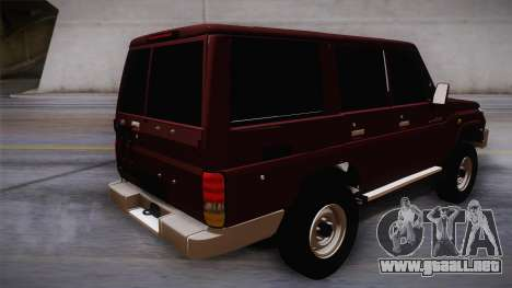 Toyota Land Cruiser 4 Puertas Original para GTA San Andreas left
