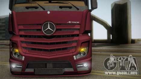 Mercedes-Benz Actros Mp4 4x2 v2.0 Bigspace v2 para la visión correcta GTA San Andreas