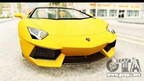 Lamborghini Aventador LP700-4 Roadster v2 para la vista superior GTA San Andreas